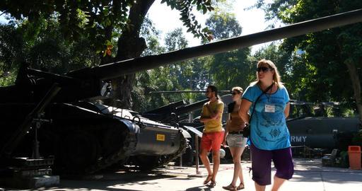 HO CHI MINH / SAIGON, VIETNAM - NOVEMBER 2015: Vietnam War Remnants Museum Footage