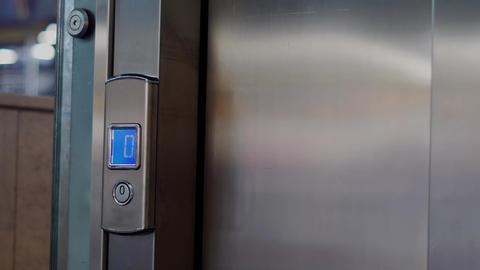 closing elevator door Footage