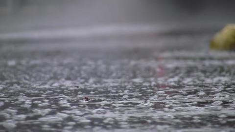 Car traffic on heavy rain 16 Footage