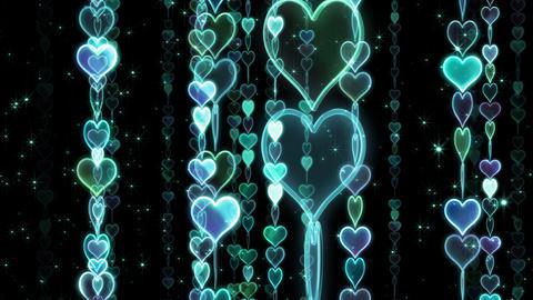Chain line Heart 1 Rm Hb 4 K CG動画素材