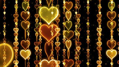 Chain line Heart 1 Ry Hb 4 K CG動画素材