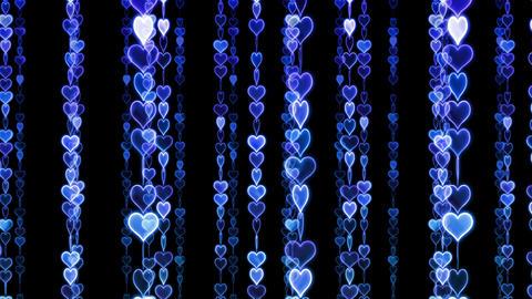 Chain line Heart 1 Ry Hs 4 K CG動画素材
