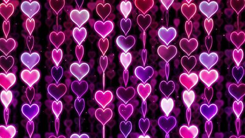Chain line Heart 1 Wf Hb 4 K CG動画素材