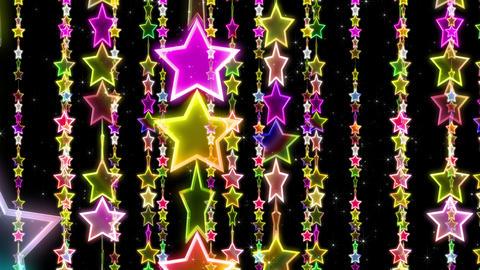 Chain line Star 1 Ry Sb 4 K CG動画素材