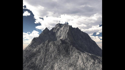 Mountain Peak High Poly 3 D Model 3D