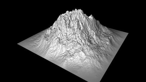 Mountain Peak High Poly 3 D Model, 3D models