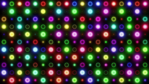 Christmas VJ Colorful Lights Flashing Stage stock footage
