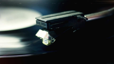 Player Playing a Vinyl Record Footage