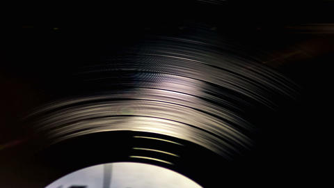Vinyl Records Rotate Footage