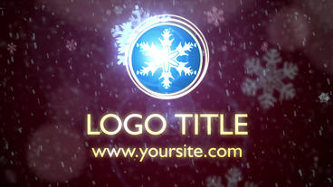 Snowfall Logo intro. Winter theme After Effects Project