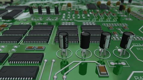 Circuit Board Forward Stock Video Footage