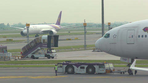 Traffic at Suvarnabhumi Airport Footage