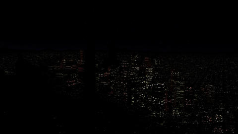 4 K Modern City Power Outage Energy Blackout at Night v 2 2 Animation