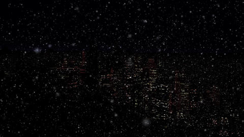 4 K Modern City Power Outage Energy Blackout at Night v 2 6 snowfall Animation