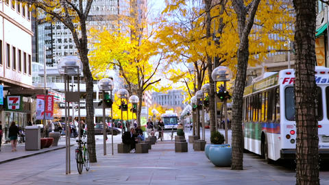 Downtown Denver stock footage
