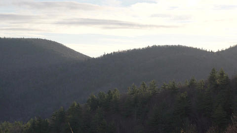 Dramatic Zoom in of Nantahala National Forest Footage
