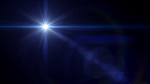 blue Star cross lens flare 4k Animation