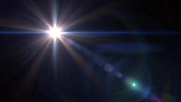 blue lens flare 4k Stock Video Footage