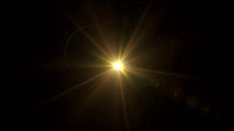gold Star lens flare center 4k Animation