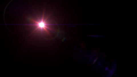 red lens flare 4k Animation