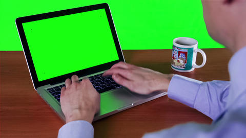 Businessman working on a laptop workplace Footage