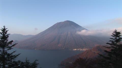 Mt. Nantaisan and Lake Chuzenji-ko Stock Video Footage