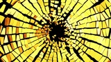 Broken Golden Glass: Destruction With Shallow DOF stock footage