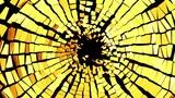 Broken golden glass: destruction with shallow DOF Animation