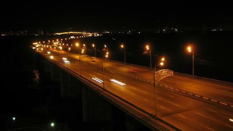 Krasnoyarsk City Night Trafffic Timelapse 02 Stock Video Footage