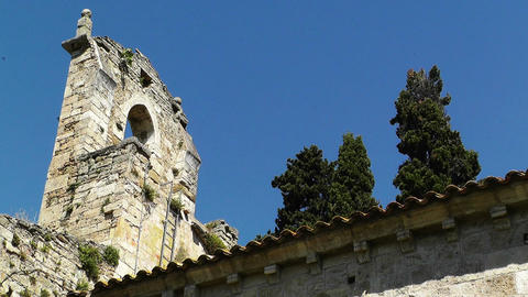 Ancient Christian Church in South Europe Stock Video Footage