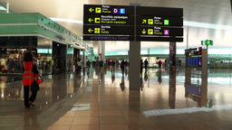 Barcelona Aeroport Del Prat International Airport Terminal 01 Footage