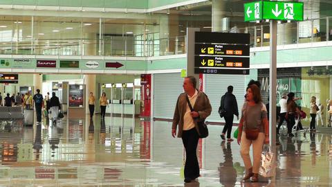 Barcelona Aeroport Del Prat International Airport... Stock Video Footage