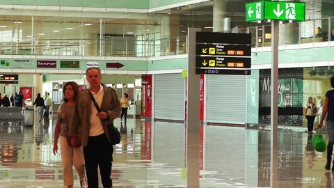 Barcelona Aeroport Del Prat International Airport Terminal 05 Footage