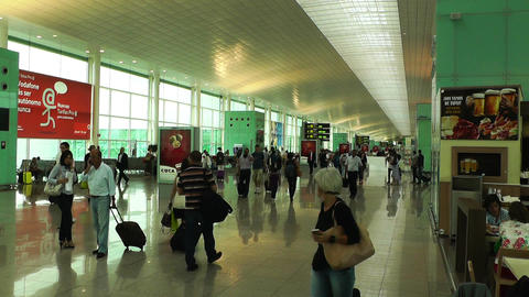 Barcelona Aeroport Del Prat International Airport... Stock Video Footage