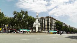 Barcelona Avinguda del Marques de l Argentera 01 Stock Video Footage