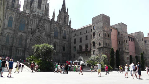 Barcelona Cathedral 01 Stock Video Footage