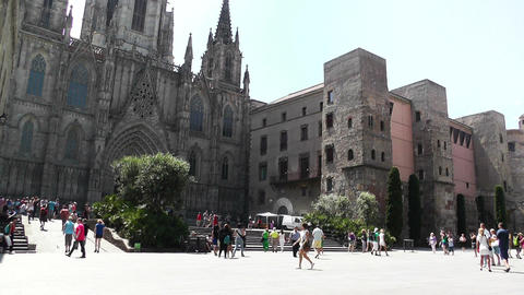 Barcelona Cathedral 01 Footage