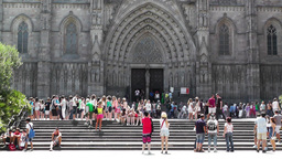 Barcelona Cathedral 03 Stock Video Footage