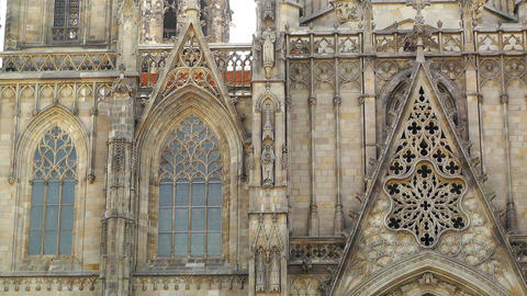 Barcelona Cathedral 06 Stock Video Footage