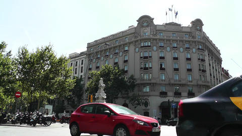 Barcelona Downtown 01 Stock Video Footage