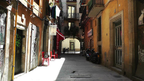 Barcelona Downtown 03 Stock Video Footage