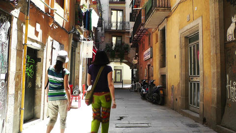 Barcelona Downtown 03 Footage