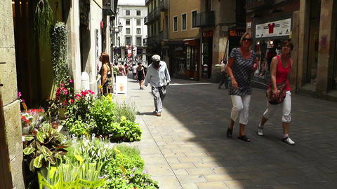 Barcelona Downtown 05 Stock Video Footage