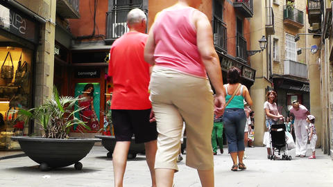 Barcelona Downtown 07 Stock Video Footage