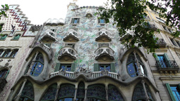 Barcelona Gaudi House 01 Footage