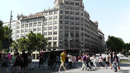 Barcelona Gran Via and Passeig De Gracia crossing 01 Footage