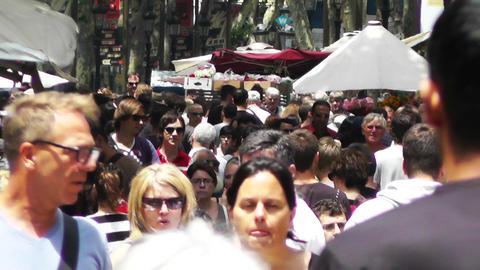 Barcelona La Rambla 01 Stock Video Footage