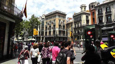 Barcelona La Rambla 04 Stock Video Footage