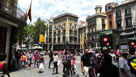 Barcelona La Rambla 04 Footage