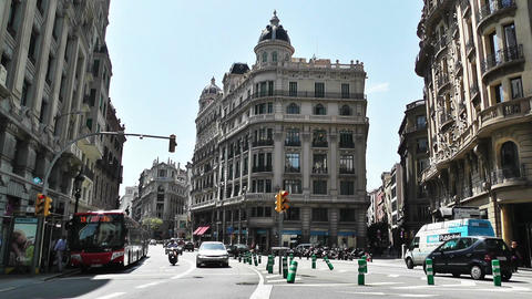Barcelona Via Layetana 01 Stock Video Footage